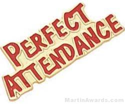 1 1/8″ Etched Soft Enamel Perfect Attendance Chenille Letter Pin 1