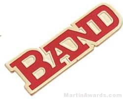 "1 1/8"" Etched Soft Enamel Band Chenille Letter Pin"