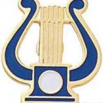 "5/8"" Music Lyre Pin"