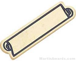 1 3/16″ Etched Soft Enamel Large Service Bar Chenille Letter Pin 1