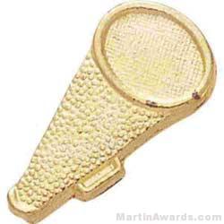 1 1/2″ Megaphone Chenille Letter Sports Pins 1