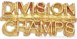 7/8″ Division Champs Chenille Letter Insert Pins 1