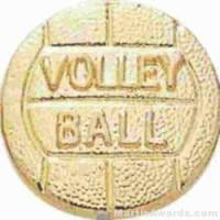 "3/8"" SMALL VOLLEYBALL CHENILLE PIN"