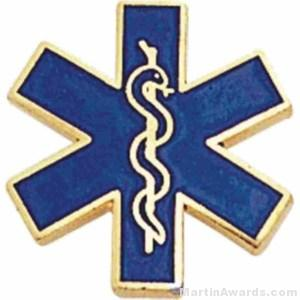 Paramedic Enameled Lapel Pins 1