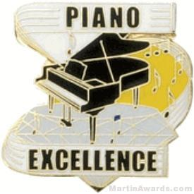 Piano Excellence Award Lapel Pin 1