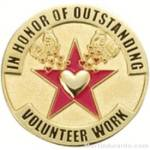 In Honor of Outstanding Volunteer Work Award Lapel Pin