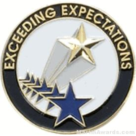 Exceeding Expectations Award Lapel Pin