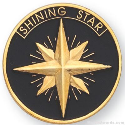 1″ Shining Star Lapel Pin 1