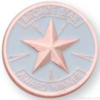 "1"" Bronze Star Award Lapel Pin"