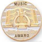 7/8″ Music Award Lapel Pin 1