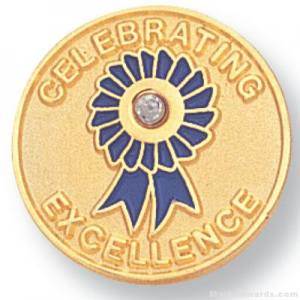 "3/4"" Celebrating Excellence Lapel Pin"