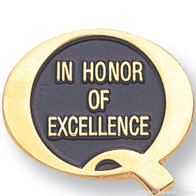 3/4″ In Honor Of Excellence Lapel Pin 1