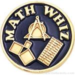 "3/4"" Math Whiz Round Enameled Lapel Pins"