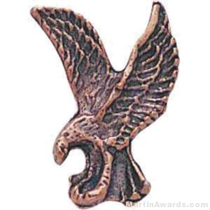 1″ Sculptured Eagle Bronze Matte Finish Pin 1