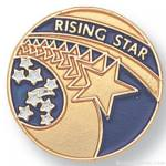 "3/4"" Rising Star Lapel Pin"
