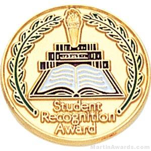 3/4″ Student Recognition Award Enameled Round Pin 1