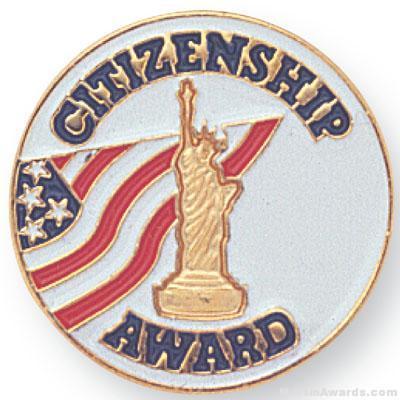 7/8″ Citizenship Award Lapel Pin 1