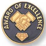 3/4″ Award Of Excellence Lapel Pin 1