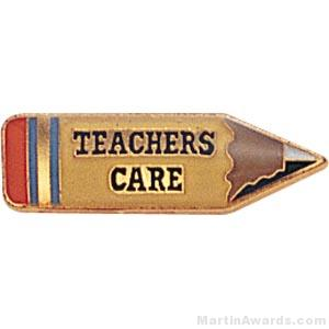7/8″ Teachers Care Custom Lapel Pins 1