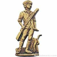 "1"" Minuteman Gold Pin"