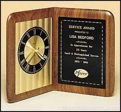 Clock Award - American Walnut Clock