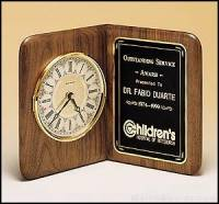 Clock Award - American Walnut Desk Clocks