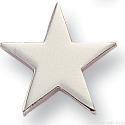 5/8″ Silver Star Lapel Pin 1
