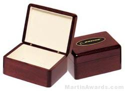 Desk Award – Wood Box with Engravable Plate Desk Accessories 1