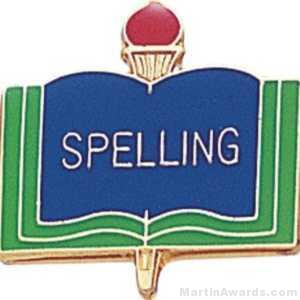 3/4″ Spelling School Award Pins 1