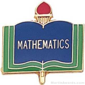 "3/4"" Mathematics School Award Pins"