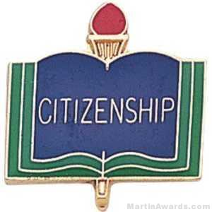 3/4″ Citizen School Award Pins 1
