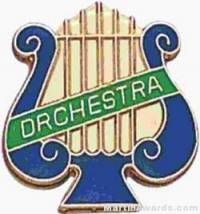 "5/8"" Enameled Orchestra Music Pin"