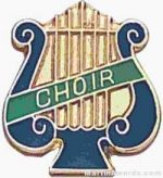 "5/8"" Enameled Choir Music Pin"